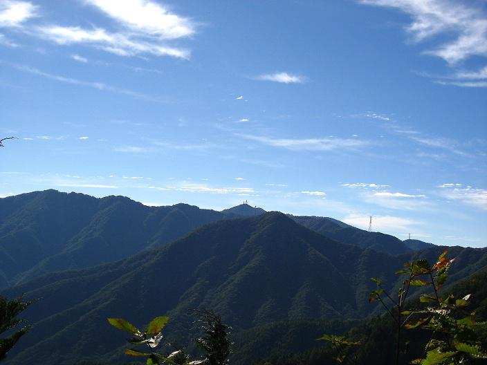 目指す三つ峠山