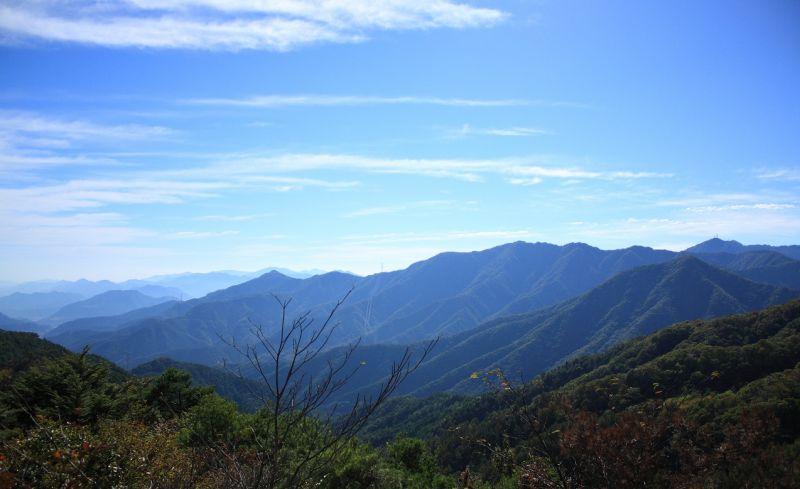 京戸山・達沢山方面の景色