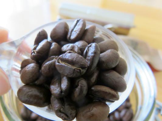 南蛮屋特上ブレンド珈琲豆のアップ