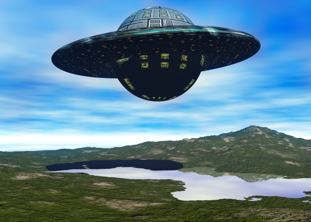 UFOと山