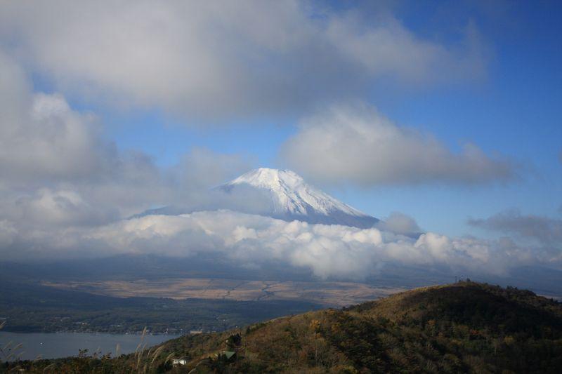 富士山悪天