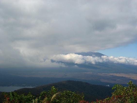 石割山の山頂からの富士山の絶景
