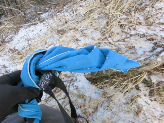 タオルも凍結