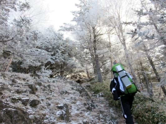 雲取山まで凍結