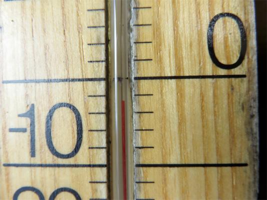 雲取山の気温は-3度