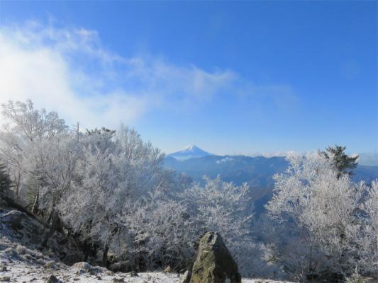 霧氷富士山展望