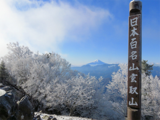 山梨百名山でもあり、日本百名山でもある雲取山