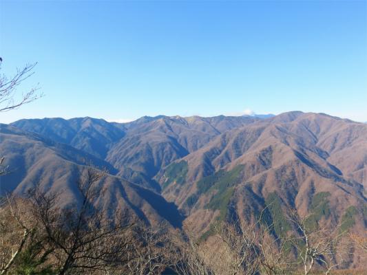 白岩小屋のテント場周辺からの景色