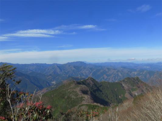 霧藻ヶ峰のトイレ付近からの景色