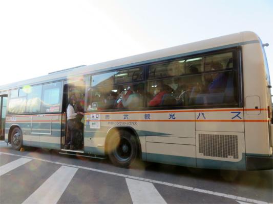 三峯神社から西武秩父駅行きのバス
