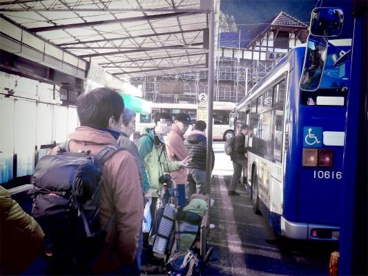 JR奥多摩駅のバス停