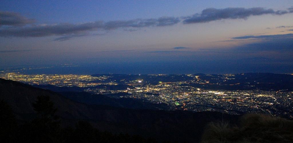 尊仏山荘からの夜景
