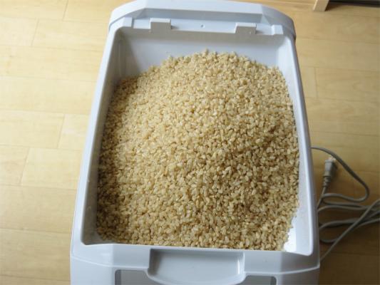 1升の玄米を精米