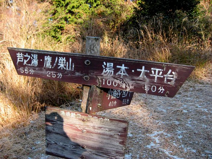 、芦之湯・鷹ノ巣山経由で箱根の名瀑飛竜ノ滝