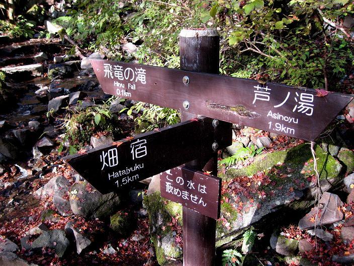 飛竜ノ滝・畑宿方面