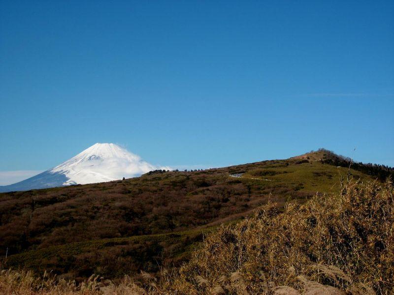 箱根ハイキング富士山景色