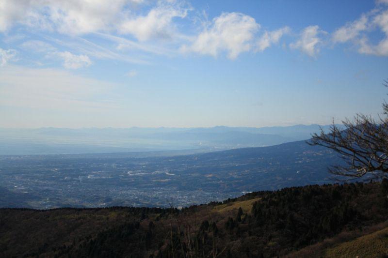 相模湖・駿河湾方面は絶景