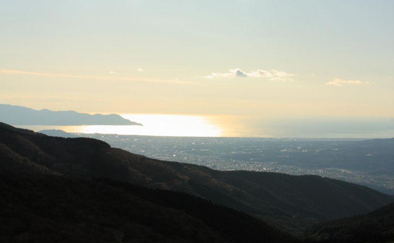 湖尻・乙女峠駿河湾の景色