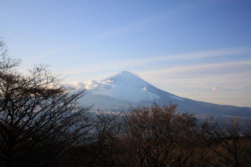 富士見台からの富士山の景色