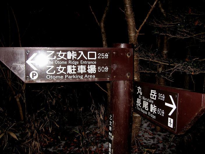 乙女峠へ下山