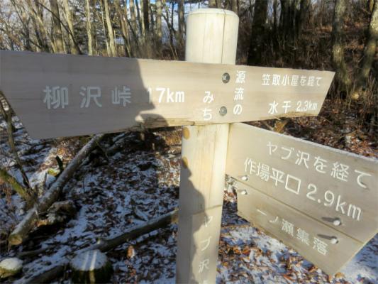 ヤブ沢から柳沢峠まで17kmの道のり