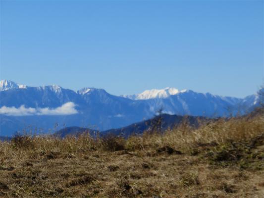 南アルプス仙丈ヶ岳の景色