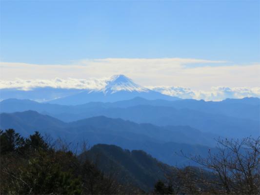 ハンゼノ頭から見る富士山