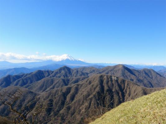 姫次から富士山