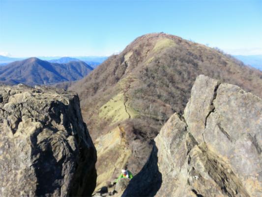 鬼ヶ岩と蛭ヶ岳のコラボレーション