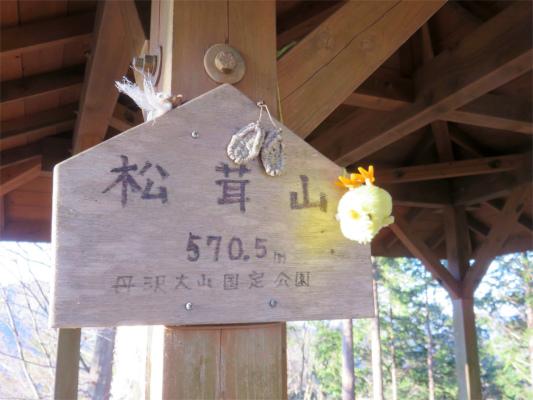 松茸山の標高は、570.5m