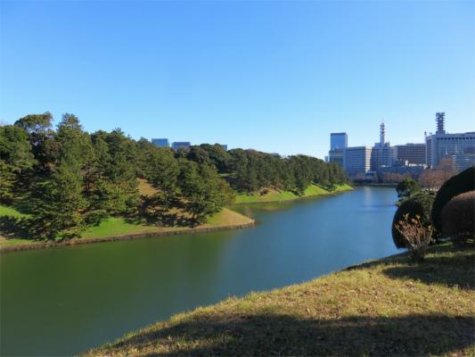 皇居桜田門付近お堀