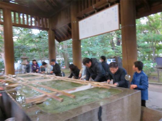 靖国神社の手水舎