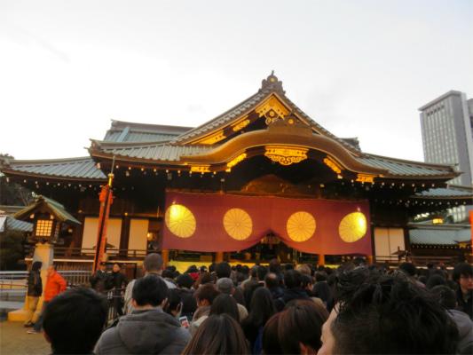 靖国神社初詣出来ました