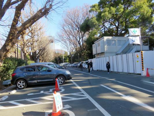 靖国神社の自家用車専用駐車場