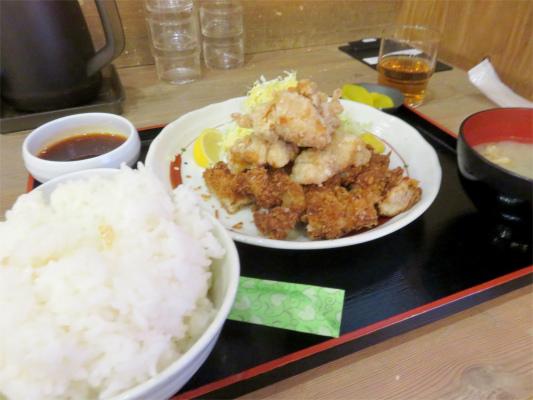 鶏の唐揚とチキンカツのセット