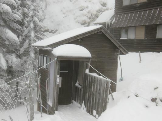 北横岳ヒュッテのトイレ