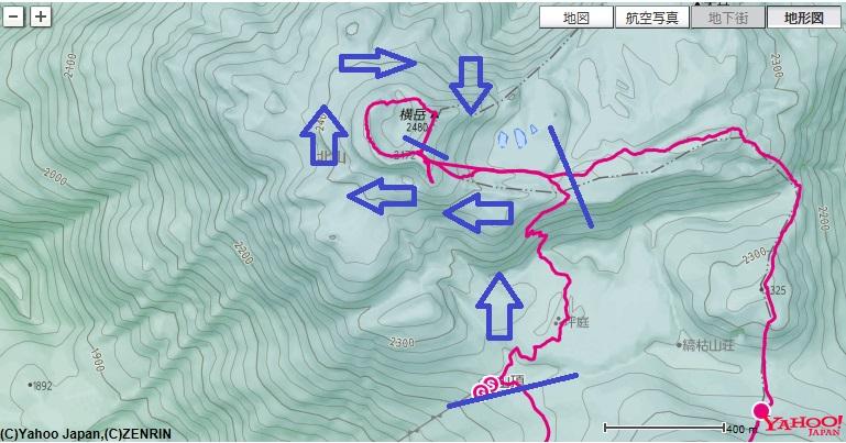 北八ヶ岳ロープウェイ~坪庭~北横岳ヒュッテ~北横岳お鉢巡り~北横岳への登山ルート