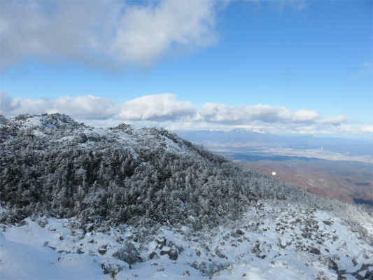 冬山らしい景色