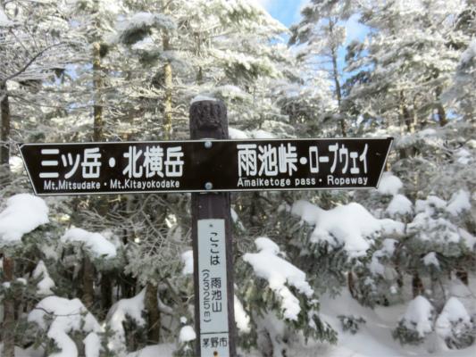 雨池山の標高は2325m