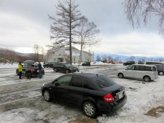 北八ヶ岳ロープウェイの駐車場