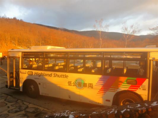JR茅野駅から北八ヶ岳ロープウェイ駅へのバス