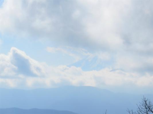 七ッ石小屋からの富士山の眺め