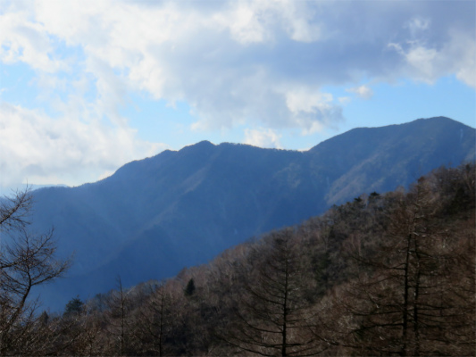 奥多摩小屋周辺から見る飛龍山