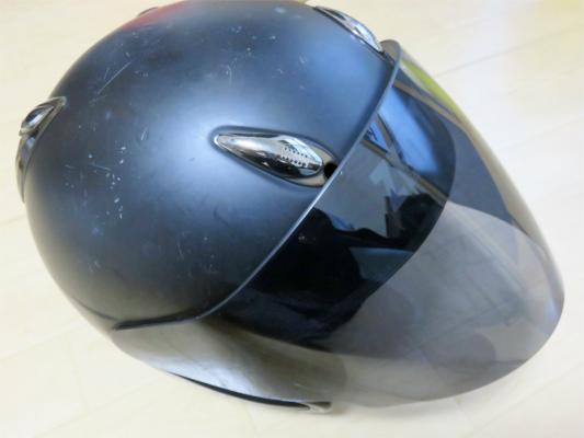 AMAHAジェットヘルメットシールド交換