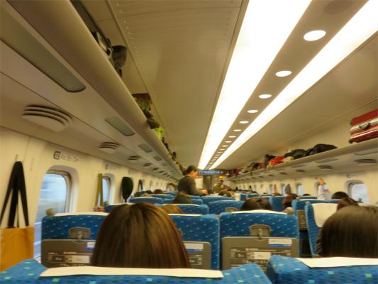 新幹線乗客