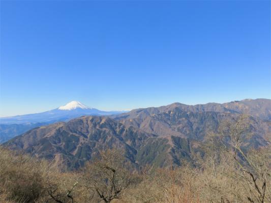 大山山頂の北側からの景色