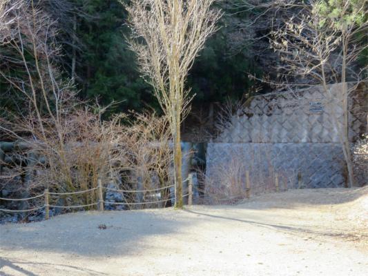 正面に砂防ダム