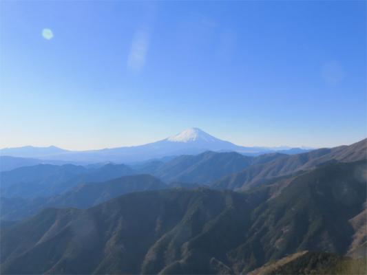 三ノ塔からの富士山の姿に癒され