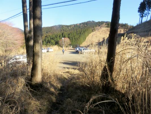 菩提峠の駐車場