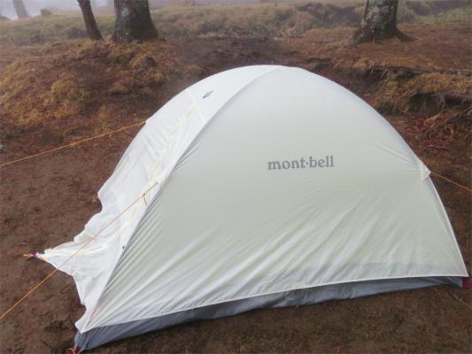 モンベルのテントコスパも良く使い勝手最高